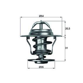 MAHLE ORIGINAL Thermostat, Kühlmittel TX 13 75D für AUDI COUPE (89, 8B) 2.3 quattro ab Baujahr 05.1990, 134 PS