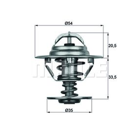 Thermostat, coolant with OEM Number A1162000315