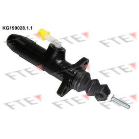 FTE Geberzylinder, Kupplung KG190028.1.1 für AUDI 80 Avant (8C, B4) 2.0 E 16V ab Baujahr 02.1993, 140 PS