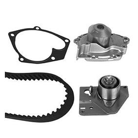 Water pump and timing belt kit with OEM Number 7701474443