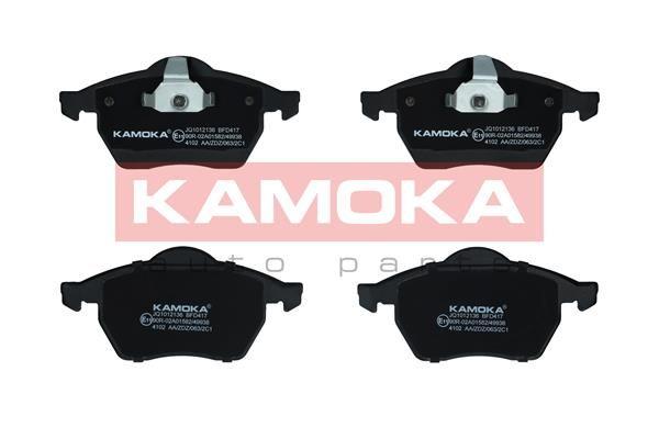 KAMOKA  JQ1012136 Bremsbelagsatz, Scheibenbremse Breite 1: 156mm, Breite 2: 155mm, Höhe 1: 74mm, Dicke/Stärke 1: 19,8mm, Dicke/Stärke 2: 20,3mm