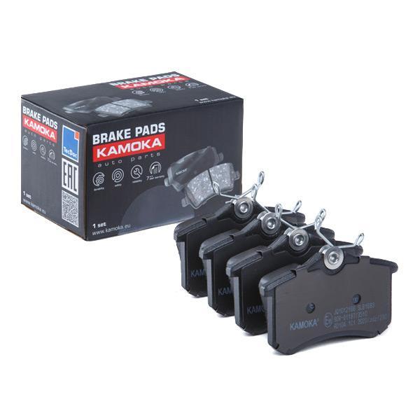 KAMOKA  JQ1012166 Jogo de pastilhas para travão de disco Largura: 88mm, Altura: 53mm, Espessura: 17,5mm