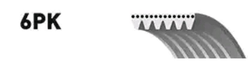 V Ribbed Belt GATES 6PK1050 5414465352805