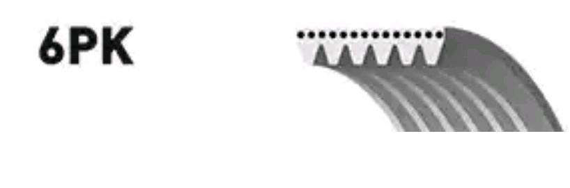Ribbed Belt GATES 6PK1197 rating