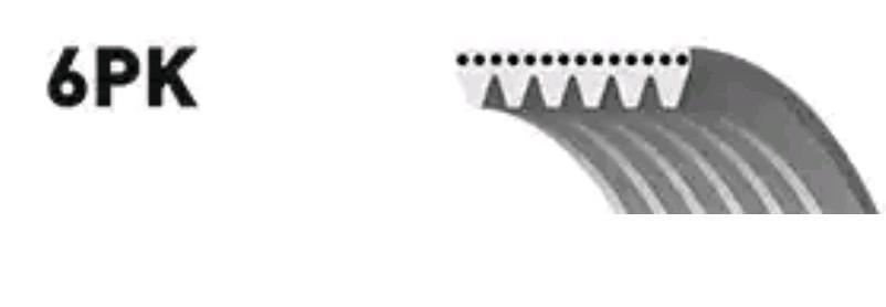 Correa trapecial poli V GATES 6PK1216 5414465351853