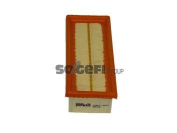 PURFLUX  A252 Luftfilter Länge: 228mm, Breite: 87mm, Höhe: 49mm, Länge: 228mm