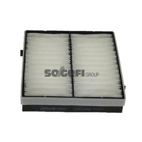 Filter, Innenraumluft Länge: 228mm, Breite: 204mm, Höhe: 40mm mit OEM-Nummer 163 835 02 47