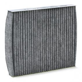 Filter, Innenraumluft Länge: 252mm, Breite: 216mm, Höhe: 32mm mit OEM-Nummer 6Q0 819 653
