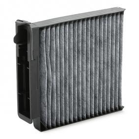 Filter, interior air Length: 207mm, Width: 185mm, Height: 42mm with OEM Number 7711 426 872