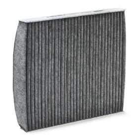 Filter, Innenraumluft Länge: 253mm, Breite: 233mm, Höhe: 29mm mit OEM-Nummer 5Q0819653