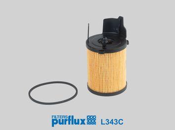 PURFLUX  L343C Filtro de óleo Ø: 66mm, Diâmetro interior: 27mm, Altura: 106mm