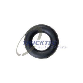 TRUCKTEC AUTOMOTIVE Haltering, Schalldämpfer 02.39.007 für AUDI 100 (44, 44Q, C3) 1.8 ab Baujahr 02.1986, 88 PS