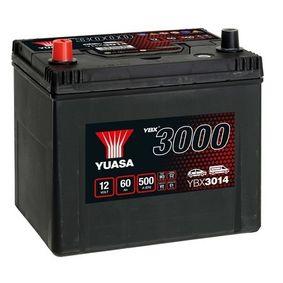 YUASA YBX3000 YBX3014 Starterbatterie Polanordnung: 1