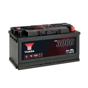 YUASA Starterbatterie 12V 95Ah 850A B3 L5 Bleiakkumulator, mit Handgriffen, mit Ladezustandsanzeige