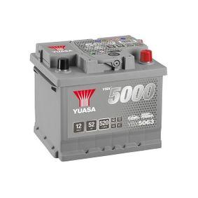 YUASA Starterbatterie 52Ah, 12V, 520A, 14, 16, Bleiakkumulator, mit Ladezustandsanzeige