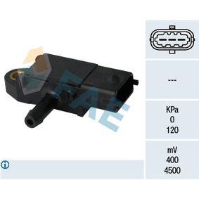 Sensore, Pressione gas scarico N° poli: 3a... poli con OEM Numero 51 792 301