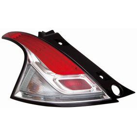 ABAKUS  666-1908L-UE Luce posteriore rosso