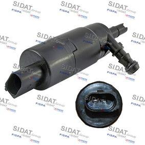 Waschwasserpumpe, Scheibenreinigung Anschlussanzahl: 2 mit OEM-Nummer 1J0955681