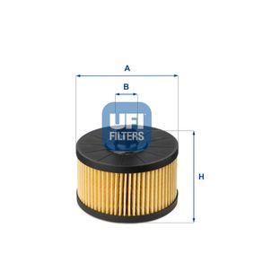 UFI  25.145.00 Ölfilter Ø: 91,5mm, Innendurchmesser 2: 20,5mm, Höhe: 63,0mm