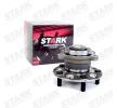STARK 7861787 Rear Axle left and right, Wheel Bearing integrated into wheel hub