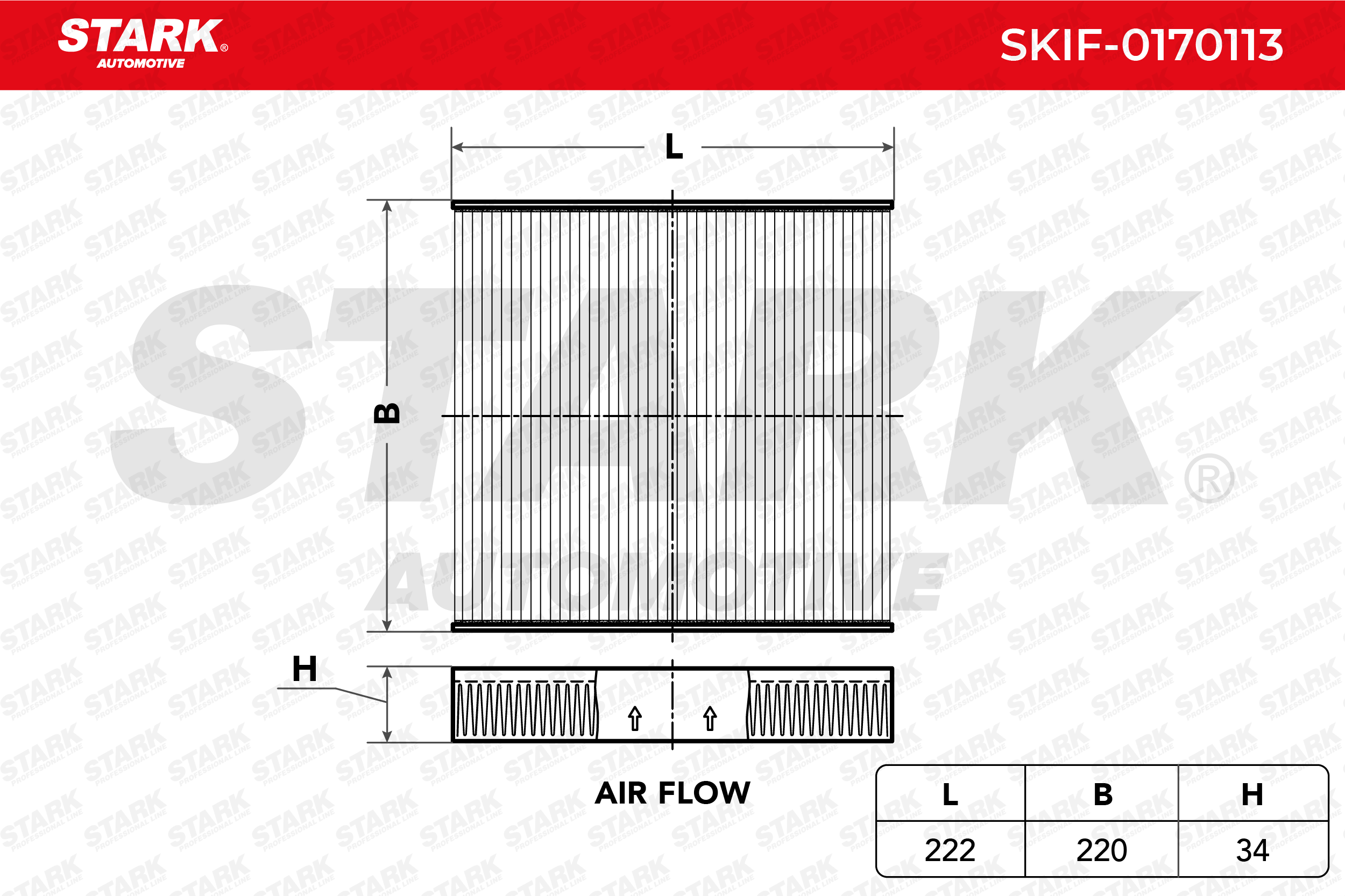 Staubfilter STARK SKIF-0170113 4059191066414