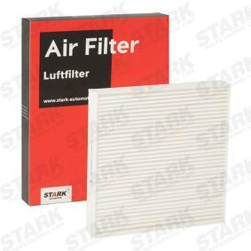 Filter, Innenraumluft Länge: 222mm, Breite: 220mm, Höhe: 34mm mit OEM-Nummer 6447 KR