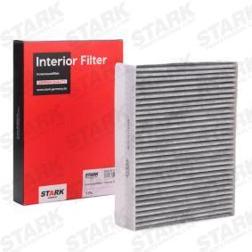Filter, Innenraumluft Länge: 255mm, Breite: 200mm, Höhe: 30mm mit OEM-Nummer 6447LN