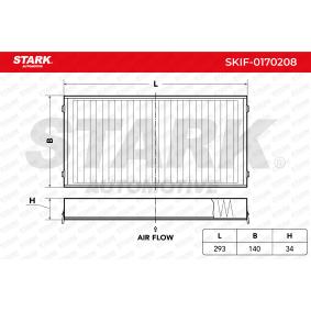 Filter, Innenraumluft Länge: 293mm, Breite: 140mm, Höhe: 34mm mit OEM-Nummer 6411 9 248 294