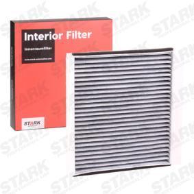 Filter, Innenraumluft Höhe: 40mm mit OEM-Nummer 668 099 03