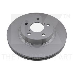 Bremsscheibe Bremsscheibendicke: 24mm, Felge: 5-loch, Ø: 260mm mit OEM-Nummer 26300 AE040