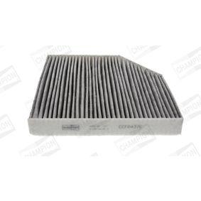 Filter, Innenraumluft Länge: 248mm, Breite: 255mm, Höhe: 35mm mit OEM-Nummer 4H0-819-439