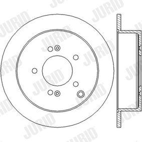 JURID  562454J Bremsscheibe Bremsscheibendicke: 10mm, Lochanzahl: 5, Ø: 284mm
