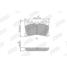Bremsbelagsatz, Scheibenbremse Höhe 1: 88mm, Dicke/Stärke: 18,3mm mit OEM-Nummer 044650W110