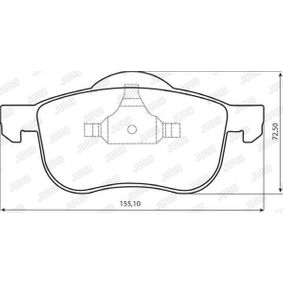 Brake Pad Set, disc brake Height 1: 72mm, Height 2: 69mm, Thickness: 18,6mm with OEM Number 86349214
