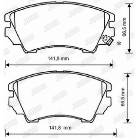 Brake Pad Set, disc brake Height 1: 67mm, Thickness: 19,3mm with OEM Number 1605265