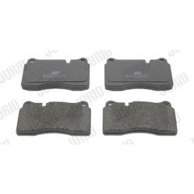 Zestaw klocków hamulcowych, hamulce tarczowe Wysokożć 1: 77,2mm, Grubość: 16,7mm z OEM Numer 8J0698151M