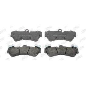 Brake Pad Set, disc brake Height 1: 99mm, Thickness: 16,2mm with OEM Number 7L6 698 151 F