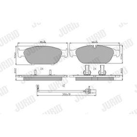 Brake Pad Set, disc brake Article № 573381J £ 140,00