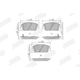 Bremsbelagsatz, Scheibenbremse Höhe 1: 68mm, Höhe 2: 60mm, Dicke/Stärke: 17,8mm mit OEM-Nummer 58101 2VA20