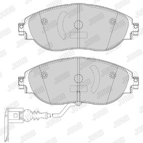 Brake Pad Set, disc brake Height 1: 69mm, Thickness: 19,8mm with OEM Number 3C0698151G