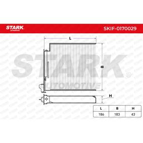Renault Twingo 2 1.2 Turbo (CN0C, CN0F) Innenraumfilter STARK SKIF-0170029 (1.2 Turbo Benzin 2017 D4F 782)