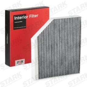Filter, Innenraumluft Länge: 279mm, Breite: 241mm, Höhe: 36mm mit OEM-Nummer 8K0 819 439A