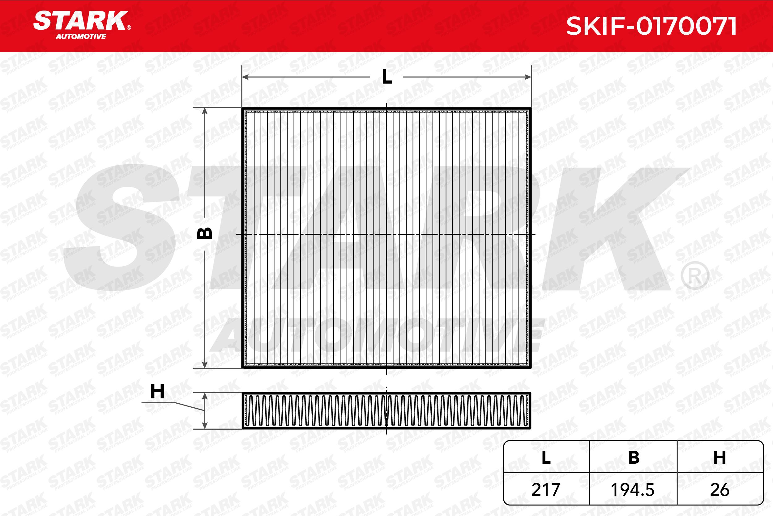 Innenraumfilter SKIF-0170071 STARK SKIF-0170071 in Original Qualität
