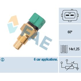 FAE Sensor, kylmedietemperatur 34425 med OEM Koder 133842