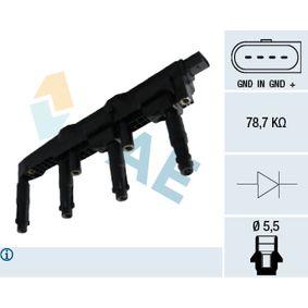 Zündspule Pol-Anzahl: 3-polig mit OEM-Nummer A000 150 1380