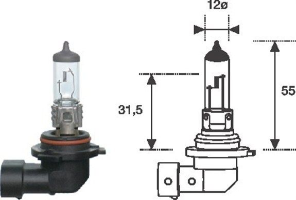 MAGNETI MARELLI  002577300000 Bulb, spotlight