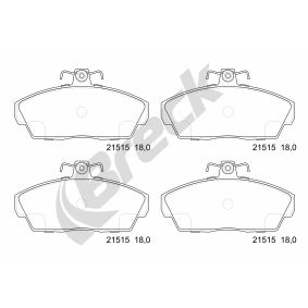 Brake Pad Set, disc brake Height: 68,50mm, Thickness: 18,00mm with OEM Number 45022-SK3-E00