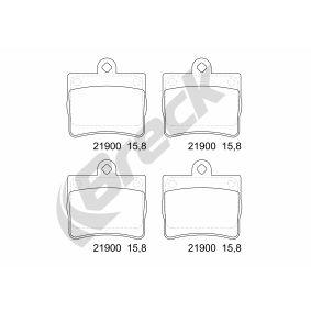 Bremsbelagsatz, Scheibenbremse Höhe: 63,10mm, Dicke/Stärke: 15,80mm mit OEM-Nummer A 002 420 51 20