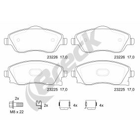 Brake Pad Set, disc brake Height: 52,40mm, Thickness: 17,00mm with OEM Number 16 05 317