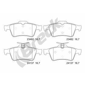 Bremsbelagsatz, Scheibenbremse Höhe: 52mm, Dicke/Stärke: 16,8mm mit OEM-Nummer 3074203-1